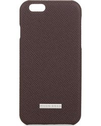 BOSS - Textured Leather Iphone 6/6s Case - Lyst