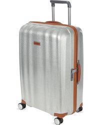 Samsonite Lite-cube Deluxe Four-wheel Spinner Suitcase 76cm - Metallic