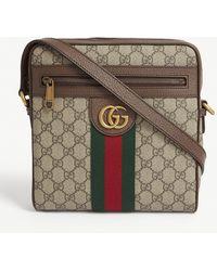 Gucci GG Supreme Fabric Ophidia Shoulder-bag - Natural