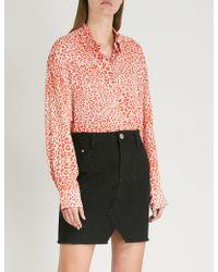 Maje - Capona Leopard-print Woven Shirt - Lyst