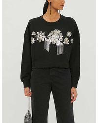 Pinko Embellished Sweatshirt - Black