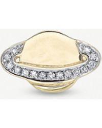 The Alkemistry - Sydney Evan Saturn 14ct Yellow-gold And Diamond Earring - Lyst