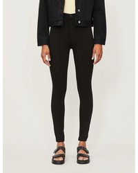 Citizens of Humanity Ladies Concealed Zip Chrissy Skinny High-rise Jeans - Black