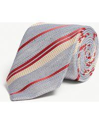 Gieves & Hawkes - Striped Silk-blend Tie - Lyst