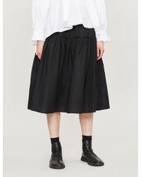 Cecile Bahnsen High-waisted Flared Cotton Skirt - Black