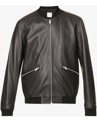 Sandro New Monaco Leather Jacket - Black