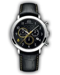 88 Rue Du Rhone 87wa140028 Double 8 Origin Stainless Steel And Leather Watch - Black
