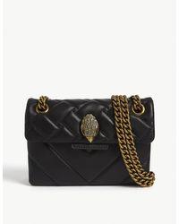 Kurt Geiger Mini Kensington Leather Shoulder Bag - Black