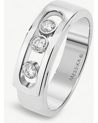 Messika - Move Noa 18ct White-gold And Diamond Ring - Lyst