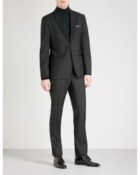 Hardy Amies - Flocked-lapel Heddon-fit Wool And Mohair-blend Evening Jacket - Lyst