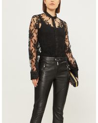 Alexander McQueen - Slashed-cuff Floral Lace Shirt - Lyst