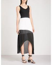 Maje - Ruddy Contrasting-panel Chiffon Dress - Lyst