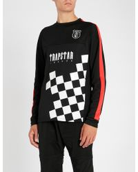 Trapstar Checkerboard-print Sports-jersey T-shirt - Black