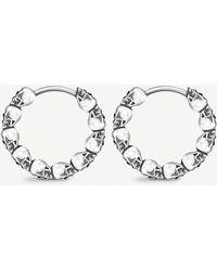 Thomas Sabo - Skull Mini Sterling Silver Hoop Earrings - Lyst