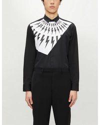 Neil Barrett Lightning Bolt Print Shirt - Black