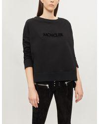 Moncler - Logo-embossed Cotton-jersey Sweatshirt - Lyst