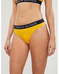 Tommy Hilfiger Iconic Stretch-jersey Bikini Briefs - Yellow
