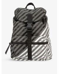 Givenchy Brand-print Zipped Shell Backpack - Black
