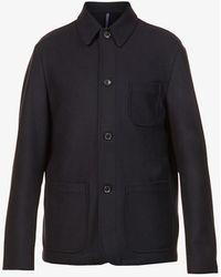 Slowear Melton Wool-blend Jacket - Blue