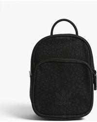 Adidas Originals | Embossed Faux-suede Mini Backpack | Lyst