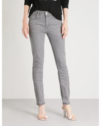Zadig & Voltaire Eva Skinny Stretch-denim Jeans - Grey