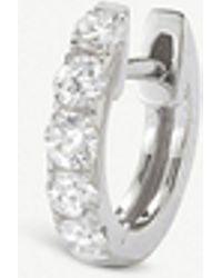 The Alkemistry - Robinson Pelham 14ct White-gold And Diamond Medium Hoop Earring - Lyst