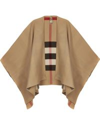Burberry Helene Reversible Cape - Natural