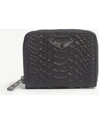 Zadig & Voltaire - Leather Mini Zv Savage Wallet - Lyst