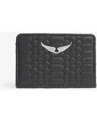 Zadig & Voltaire Zv Travel Savage Leather Passport Holder - Black