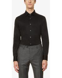 Corneliani Solid Cotton-jersey Sweatshirt - Black