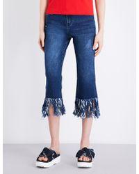 Mo&co. - Raw-hem Straight-leg Jeans - Lyst