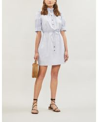Apiece Apart Sabrina Cotton-poplin Dress - White