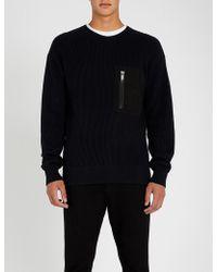 HUGO - Pocket-detail Wool And Cotton Jumper - Lyst