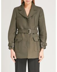 Claudie Pierlot - Belted Cotton-twill Coat - Lyst