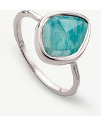 Monica Vinader - Siren Amazonite-gemstone Sterling Silver Ring - Lyst