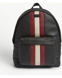 Bally - Hingis Trainspotter Grained Leather Backpack - Lyst