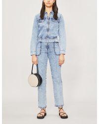 302b0f9e Claudie Pierlot - Jacinthy Denim Boiler Suit - Lyst