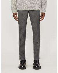 Sandro Flecked High-rise Wool Suit Pants - Gray