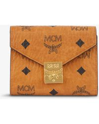 MCM Patricia Faux-leather Tri-fold Wallet - Brown