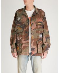 HTC Hollywood Trading Company - Native Camouflage Cotton-drill Jacket - Lyst