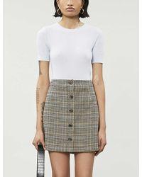 Whistles - Houndstooth-print Woven Skirt - Lyst