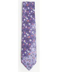 Duchamp - Daisy Floral Print Silk Tie - Lyst