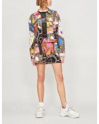 Jaded London - Scarf-print Denim Jacket - Lyst