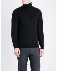 Ralph Lauren Purple Label Turtleneck Fine-knit Cashmere Jumper - Black