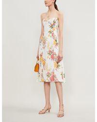 Reformation - Juliette Floral-print Crepe Midi Dress - Lyst