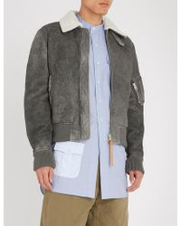 JW Anderson - Suede And Shearling Aviator Jacket - Lyst