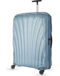 Samsonite Ice Blue Cosmolite Four-wheel Suitcase 80cm