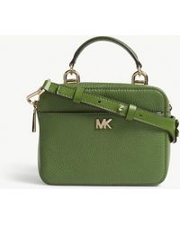 MICHAEL Michael Kors - Michael Kors Ladies True Green Floral Guitar Strap Mini Grained Leather Cross-body Bag - Lyst