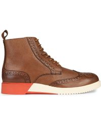 Anthony Miles Burrell Leather Contrast Boots - Brown