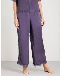 Nk Imode - Ulrika Silk-satin Pyjama Bottoms - Lyst